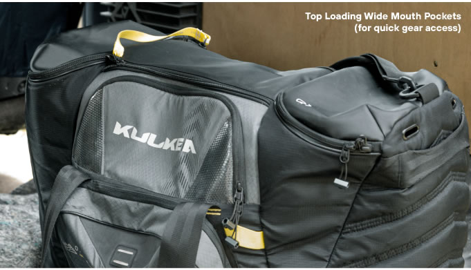 Top Loading Wide Mouth Pockets Cycle Gear Bag OTRmost