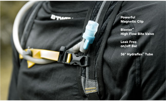 Hydraflex Magnetic Clip Hydration Backpack Kulkea OTRmost
