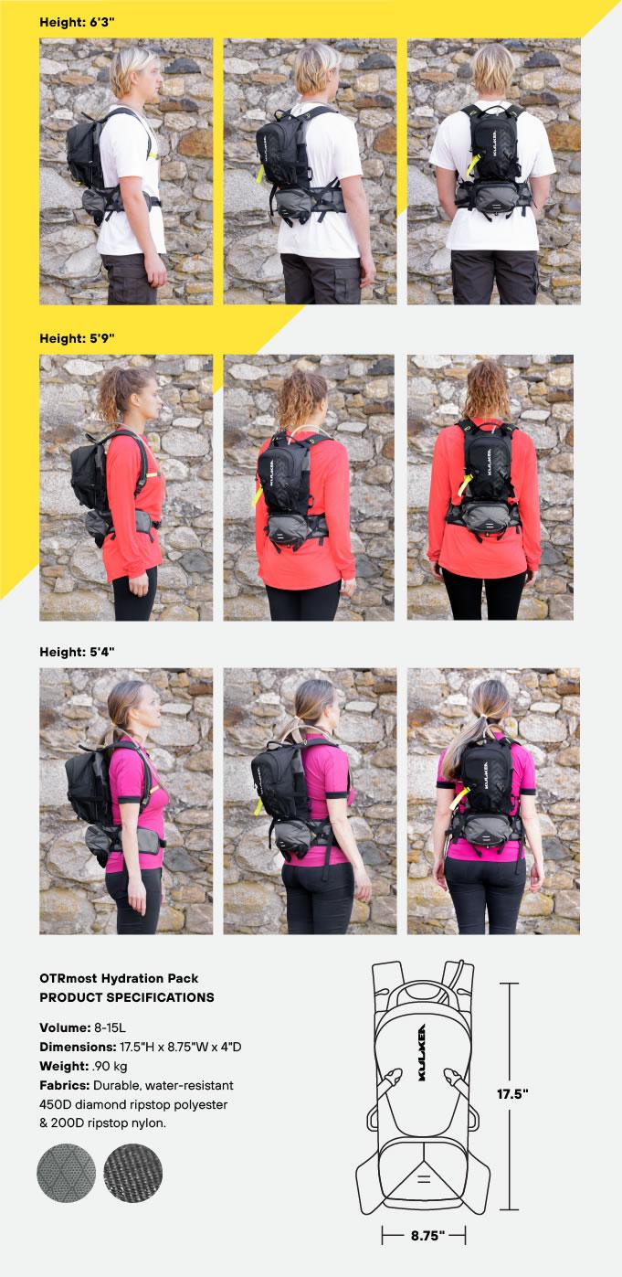 Specifications Hydration Backpack Kulkea OTRmost
