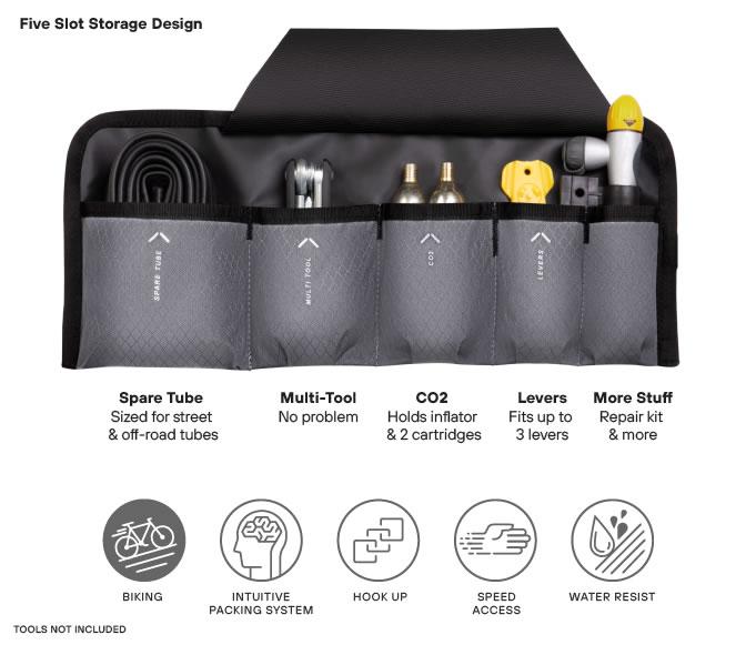 Five Slot Storage Tool Roll OTRmost Kulkea