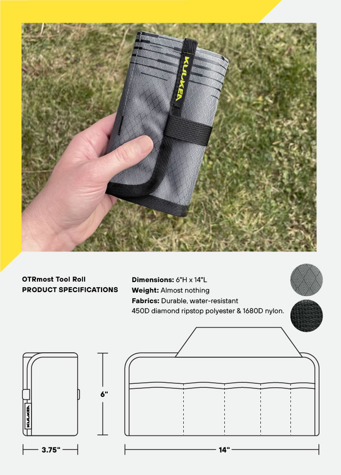 Specifications Tool Roll OTRmost by Kulkea