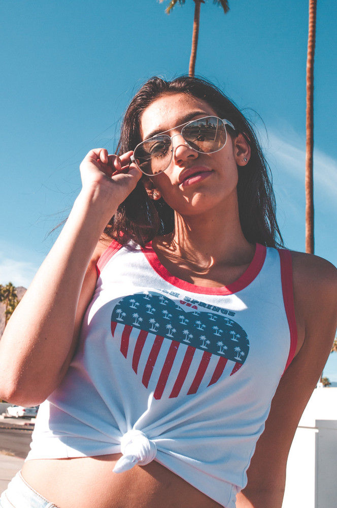 Palms & Stripes Vintage Tank