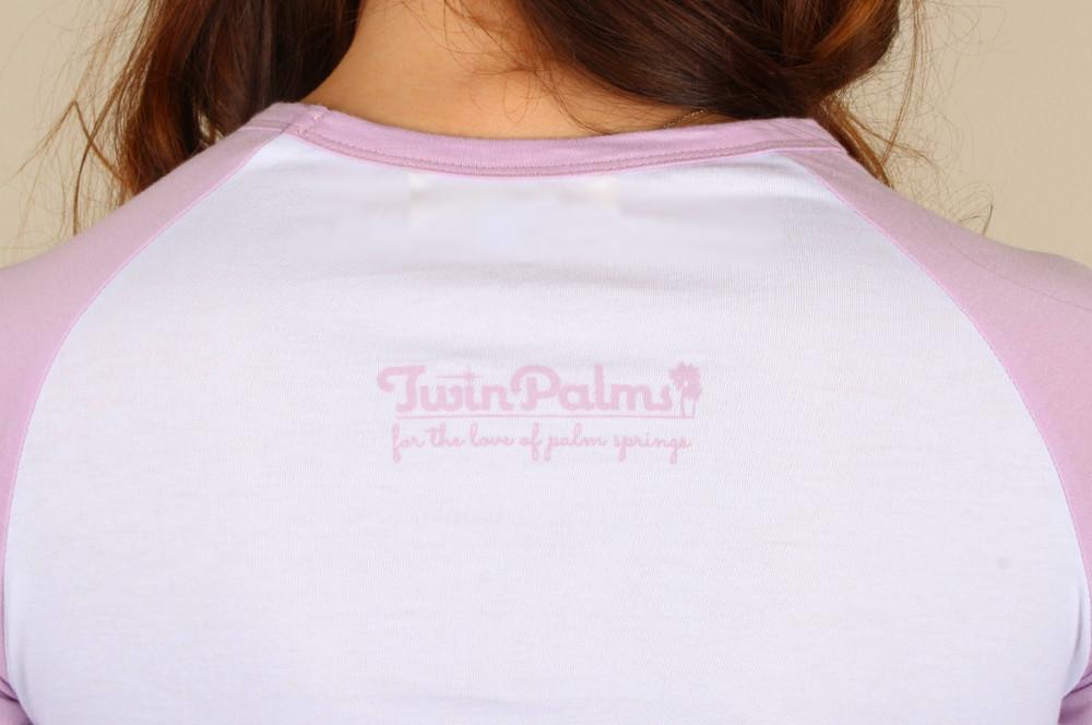 Palm-A-Rama Raglan (Pink)
