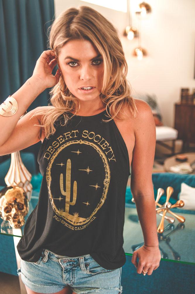 Desert Society Gold Shimmer Halter