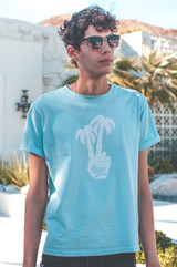 Peace Palms T (Blue)