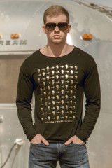 Stars & Palms Gold Long Sleeve