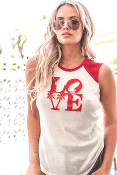 Love Palms Raglan Tank
