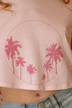 Circle Of Palms Cropped Tank