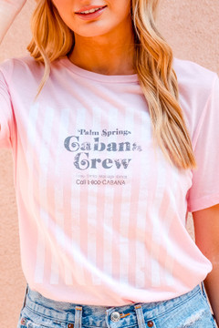 Cabana Crew Striped T (Pink)