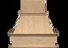 "NWA Signature 36"" Traditional Chimney Style Range Hood with added molding, NWA-DWH36"
