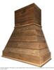"""Castlewood 30"""" Rustic Shiplap Chimney Range Hood, Brown SY-WCSLR-30-Brown"""