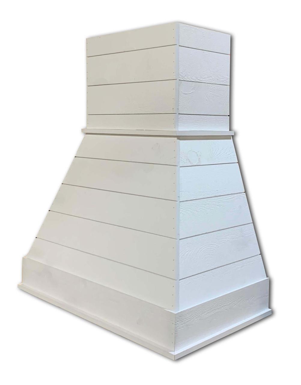 "Castlewood 48"" Rustic Shiplap Chimney Range Hood, White SY-WCSLR-48-WH"