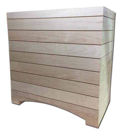Castlewood 42 x 36 Shiplap Arched Box Range Hood with Trim - SY-WSLBA-4236