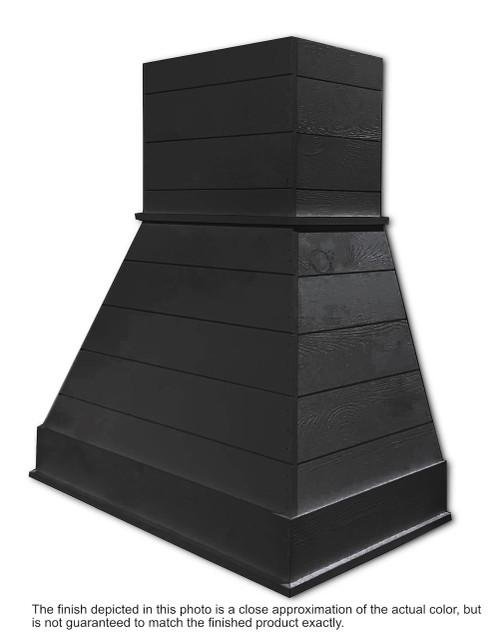 "Castlewood 36"" Rustic Shiplap Chimney Range Hood, Black SY-WCSLR-36-BK"
