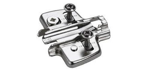Hettich INTERMAT 3MM EURO MOUNTING PLATE WITH SCREWS 1071627