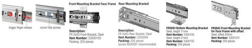 Fulterer Full-Extension Ballbearing Drawerslide - Standard FR5043