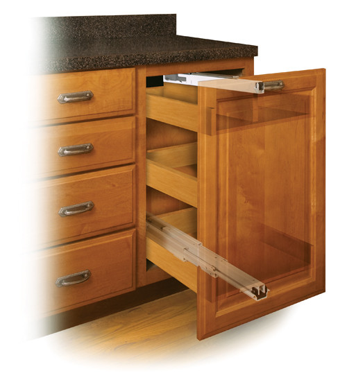 Fulterer Progressive Action Full-Extension Pantry Slide with Soft Close FR775