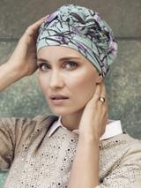 Azure Printed Turban (CH)