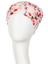 Lotus Printed Linen Scarf (CH)