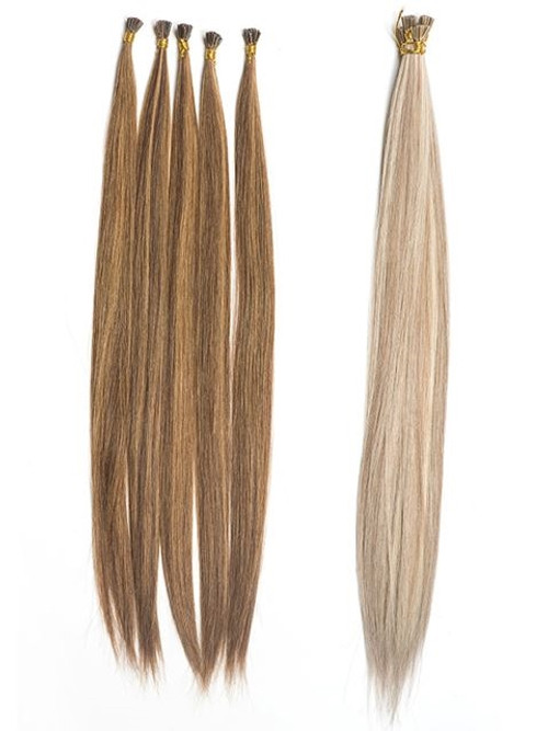"""Optimum Cuticle Hair I-Tip Straight 18"""" Extensions (WP) *clearance"""