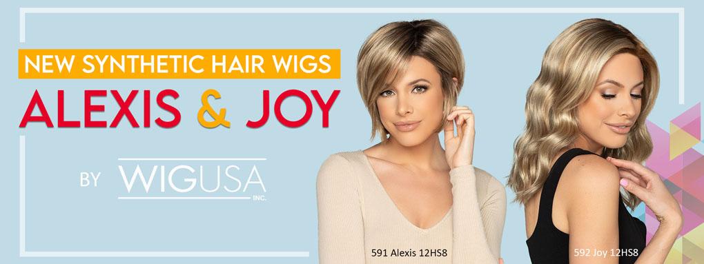 New Synthetic Hair Wigs, Alexis & Joy