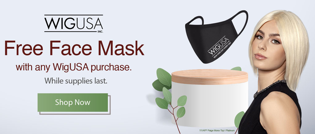 Free Face Mask with any WigUSA purchase