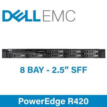 "Dell 12G PowerEdge R420 - 8 Bay 2.5"" Small Form Factor - 1U Server - Configure to Order"