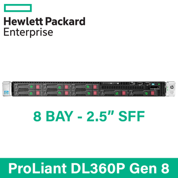"HP ProLiant DL360p G8 - 8 Bay 2.5"" Small Form Factor - 1U Server - Configure to Order"