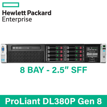 "HP ProLiant DL380p G8 - 8 Bay 2.5"" Small Form Factor - 2U Server - Configure to Order"