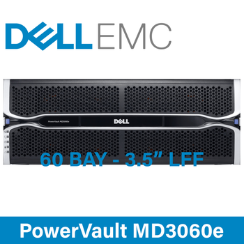 "Dell PowerVault MD3060e SAS 6Gb/s 60-Bay 3.5"" Large Form Factor - 4U Dense Storage Enclosure - Configure to Order"