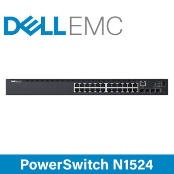 DELL EMC PowerSwitch N1524 - 24x 1GbE RJ45 Ports - 4x 10GbE SFP+ Ports Network Switch