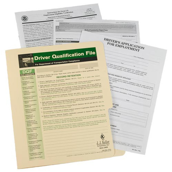 Driver Qualification File Packet (Single Copy)