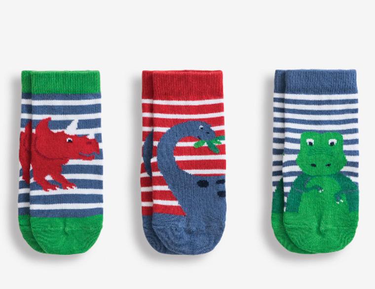 Jo Jo 3 Pack Bright Dino Socks