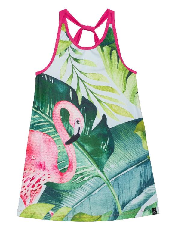 Deux Par Deux Flamingo Beach Dress