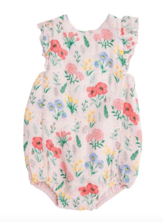 Angel Dear Summer Floral Sunsuit