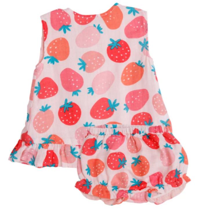 Angel Dear Strawberries Ruffle Set