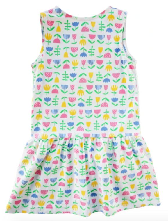 Florence Eiseman Flower Sleeveless Dress