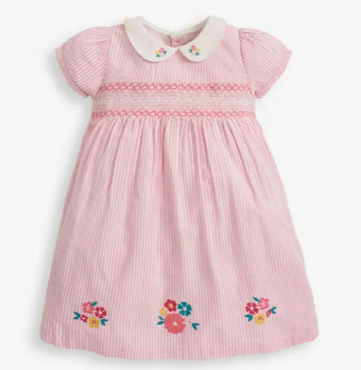 Jo Jo Floral Smocked Pink Dress