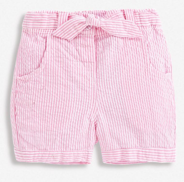 Jo Jo Pink Seersucker Shorts
