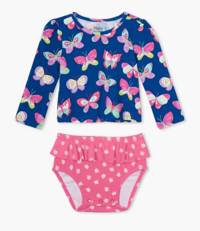 Hatley  Bright Butterflies  Baby Rashguard Set