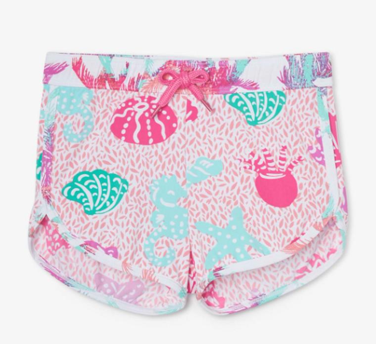 Hatley Girls Abstraet Sea Life Swim Shorts