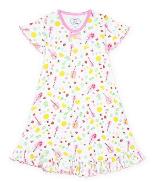 Sara's Prints  Girls Pink Lemonade Nightgown