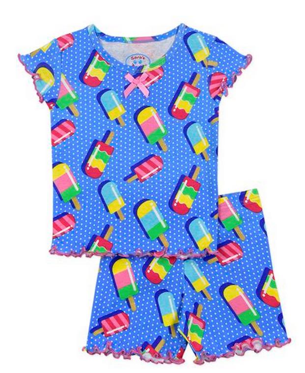Sara's Prints Popsicle Short PJ