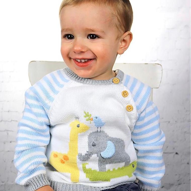 Zubels Blue Nursery Sweater