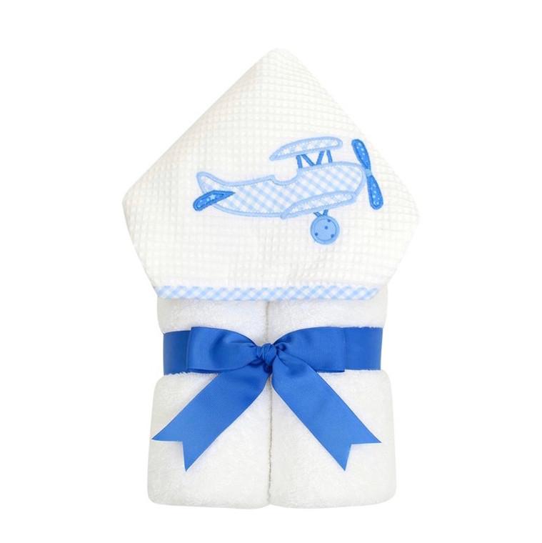 3 Marthas Blue Plane Towel