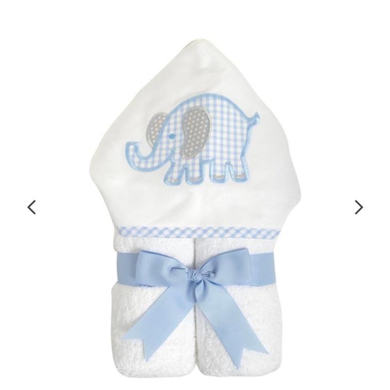 3 Marthas Blue Elephant Towel
