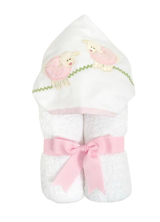 3 Marthas  Pink Lamb Towel