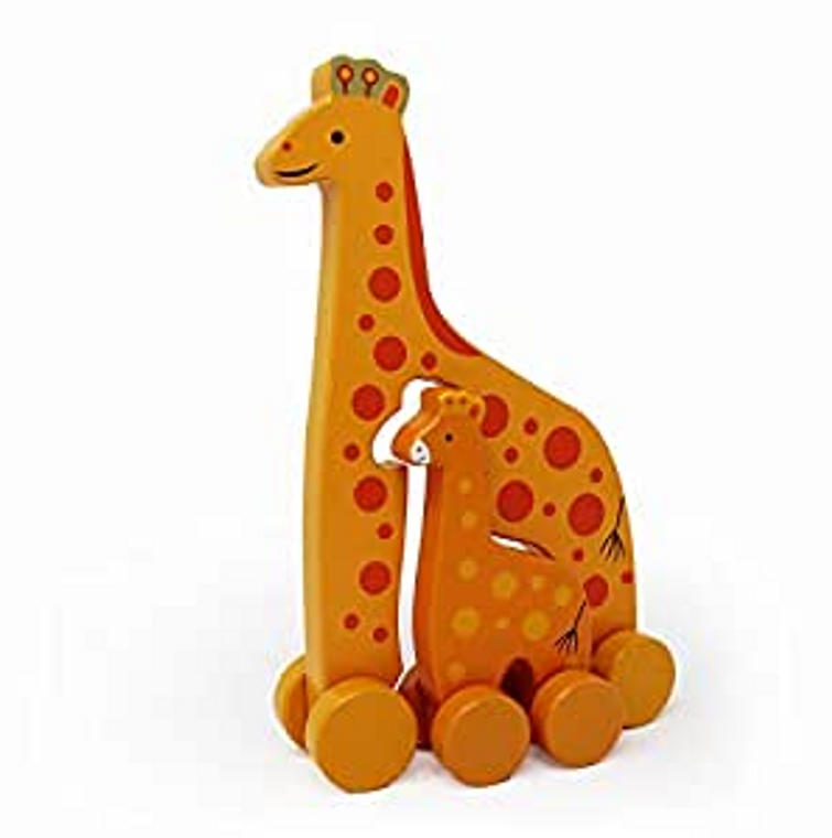 Jack Rabbit Giraffe Push Toy