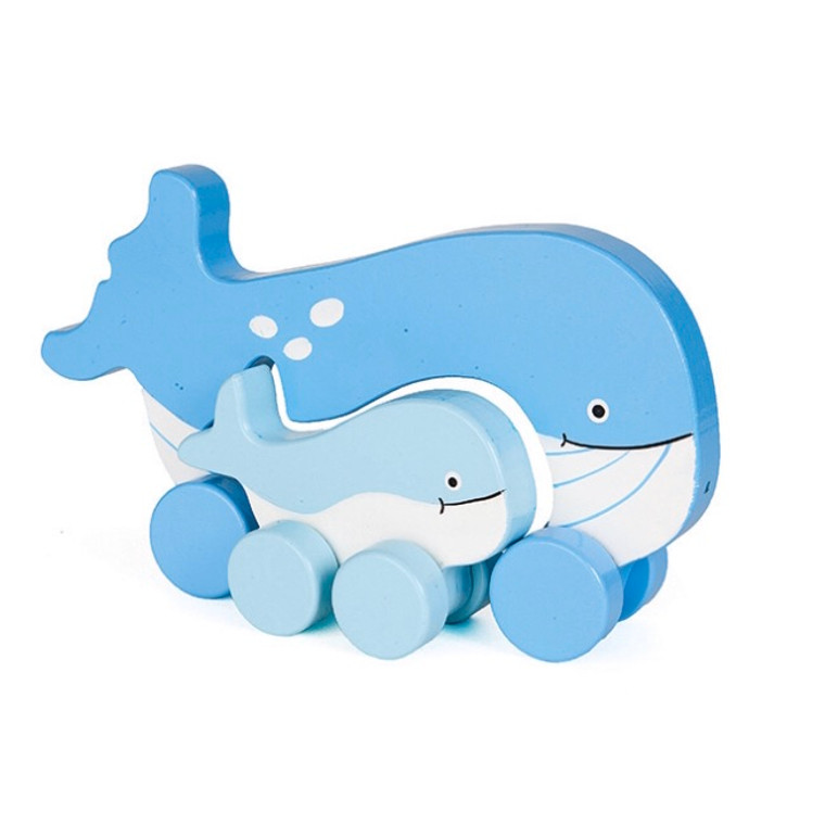 Jack Rabbit Whale Push Toy