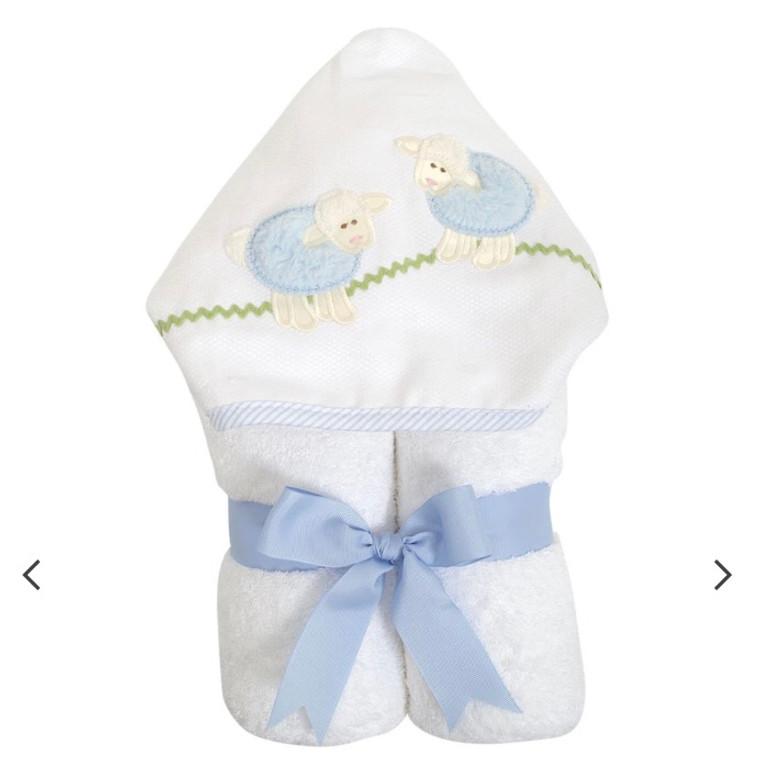 3 Marthas Blue Lamb Towel